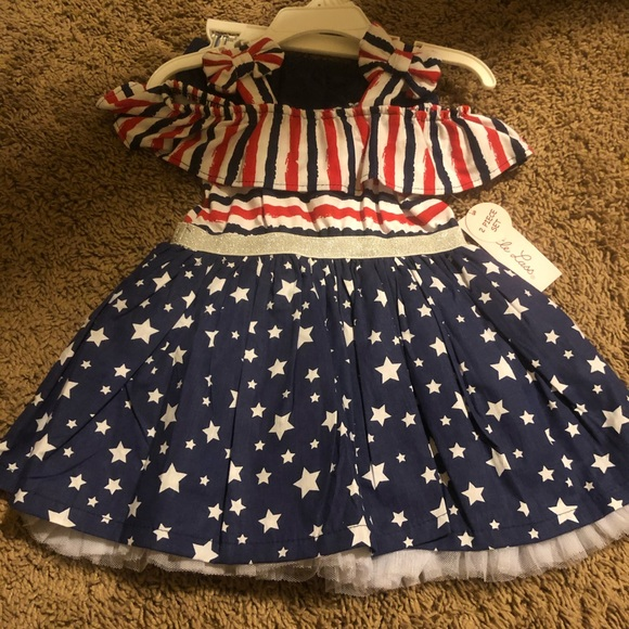 Patriotic girls outfit 4th of July